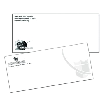 1 color envelopes rush